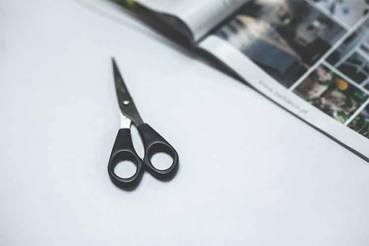 Набор ножниц. Понадобятся большие ножницы для раскройки крупных фрагментов и маникюрные ножницы для вырезания миниатюрных деталей. Перед работой инструмент нужно очистить от загрязнений, наточить и смазать.